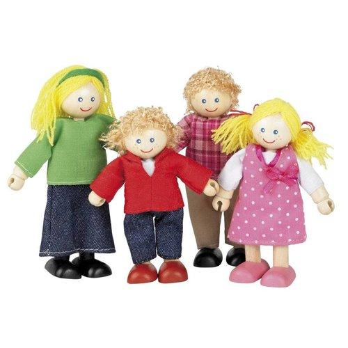Tidlo Familie Vrolijk 4 poppenhuis poppetjes