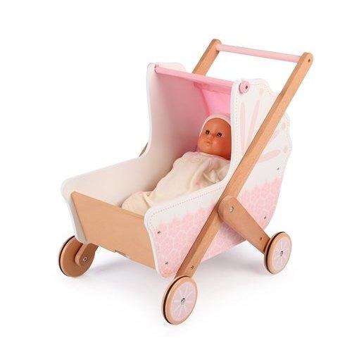 Tidlo 3 in 1 houten poppenwagen met naam