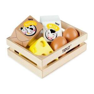 Tidlo Houten Eieren en Zuivel