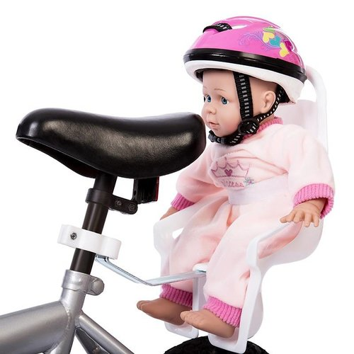 Mini Mommy Poppen Fietsstoel Wit