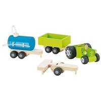 Tractor met Aanhangers (4dlg)