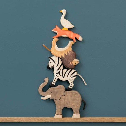 Holztiger Giraf
