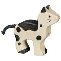 Kat Zwart met Wit 7,5 cm