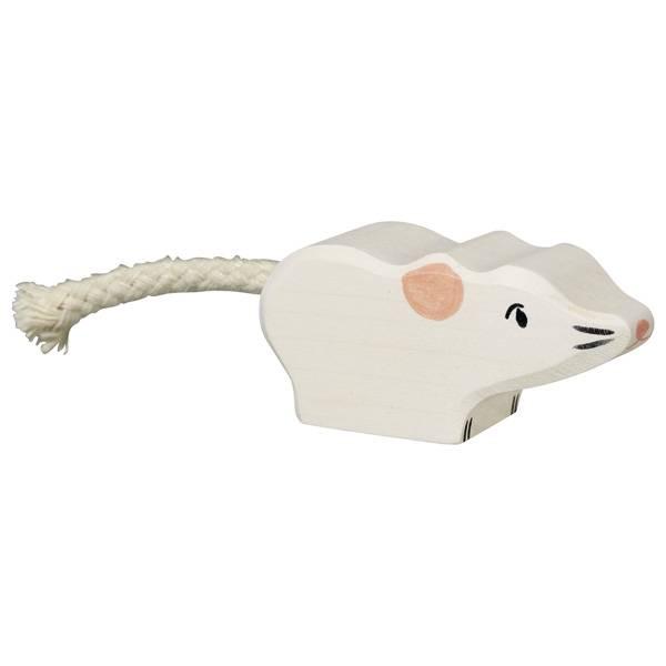 Holztiger Muis Wit 5 cm