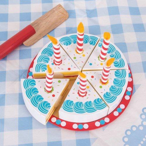 Bigjigs Verjaardagstaart met kaarsjes