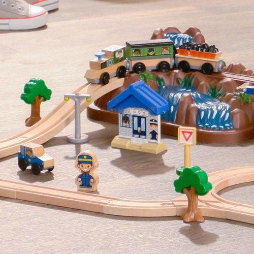 Kidkraft Houten treinset met opbergbak Mountain