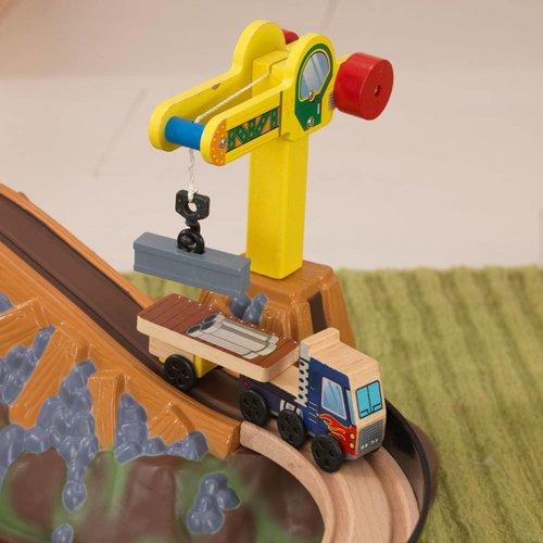 Kidkraft Houten treinset met opbergbak Construction