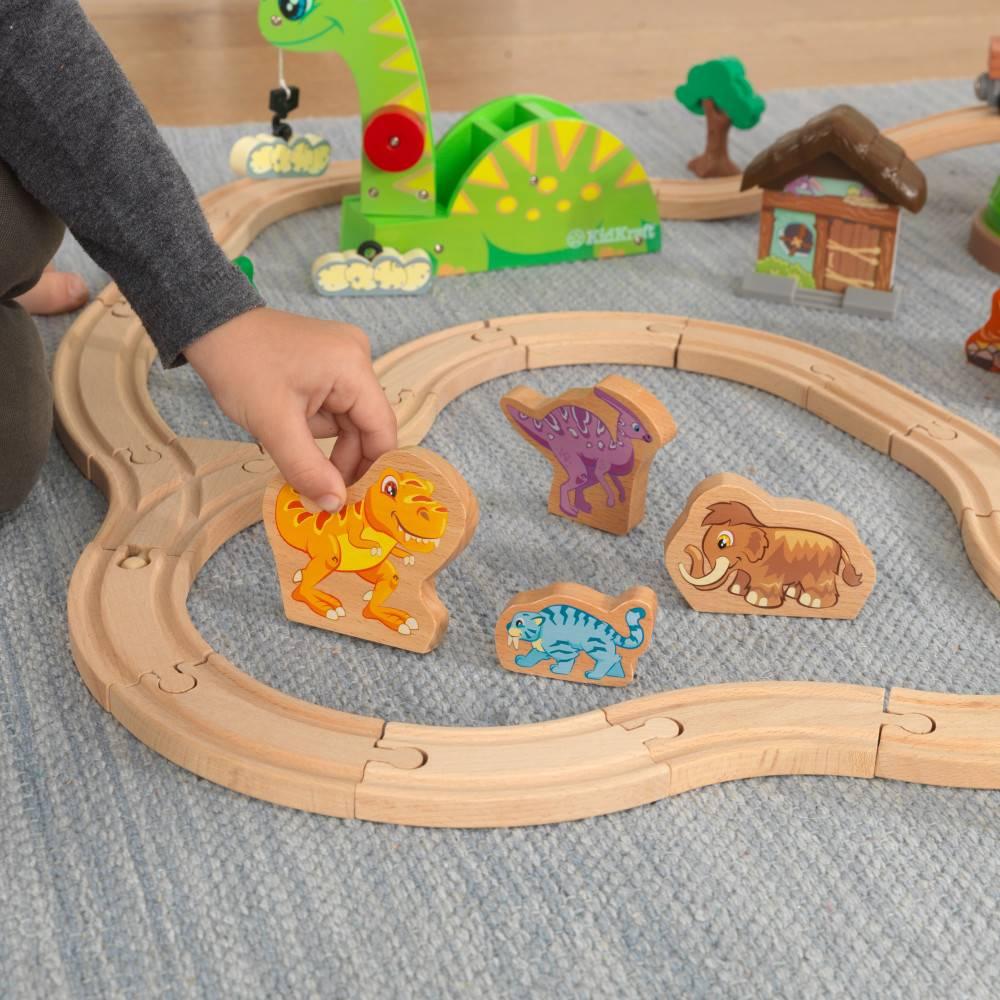 Kidkraft Houten treinset met opbergbak Dinosaurus
