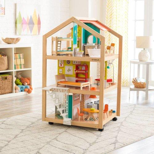 Kidkraft So Stylish Mansion poppenhuis met gemakkelijke EZ Kraft Assembly™