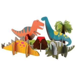 Petit Collage Pop Out 3D Dinosaurussen