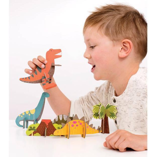Petit Collage Pop Out 3D Dinosaurussen
