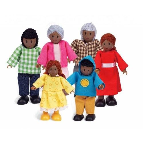 Hape Poppenhuis poppetjes Donkere Familie