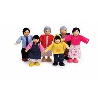 Poppenhuis poppetjes Asian Family