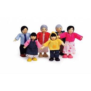 Hape Poppenhuis poppetjes Asian Family