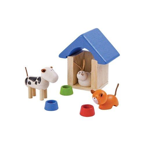 Plan Toys Poppenhuis Huisdieren