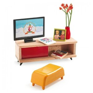 Djeco Poppenhuis TV Kamer