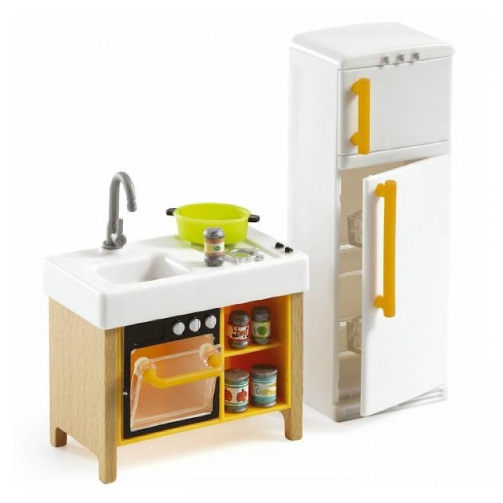 Djeco Poppenhuis Keuken Compact Bestel Eenvoudig Het Houten Poppenhuis