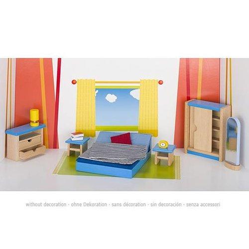 Goki Poppenhuis Slaapkamer 16-delig