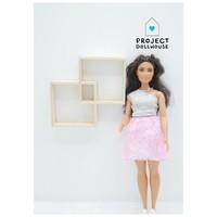 Wandmeubel twee vakken Barbie