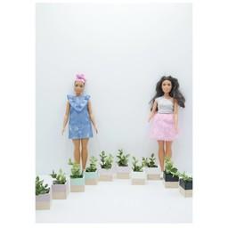 Project Dollhouse Plantenbakken Barbie 2 stuks