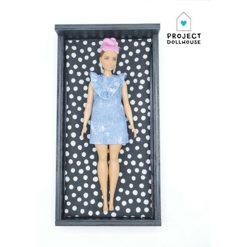 Project Dollhouse Barbie Bed Zwart