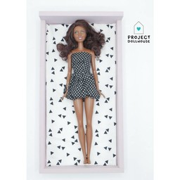 Project Dollhouse Barbie Bed Oud Roze