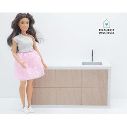 Project Dollhouse Barbie Keuken Modern