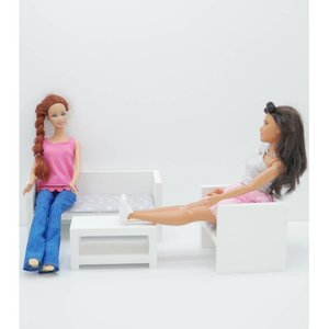 Project Dollhouse Barbie Zitkamer Wit