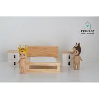 Poppenhuis Nachtkastjes Set Wit