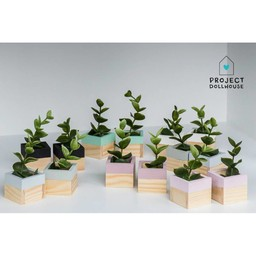 Project Dollhouse Poppenhuis Plantenbakken Set van 2