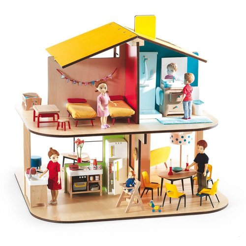 Djeco Color Poppenhuis
