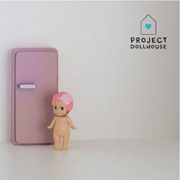 Project Dollhouse Poppenhuis Koelkast Oud Roze