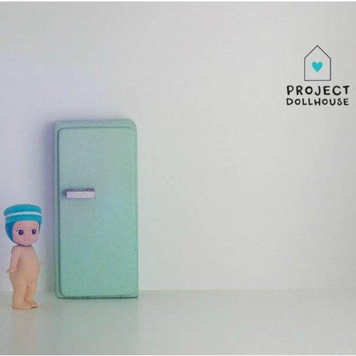 Project Dollhouse Poppenhuis Koelkast Mintgroen
