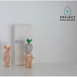 Project Dollhouse Poppenhuis Koelkast Wit