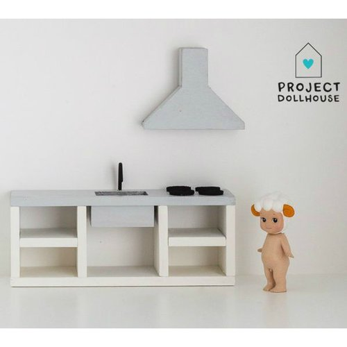 Project Dollhouse Poppenhuis Keuken Grijs