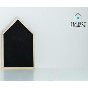 Project Dollhouse Poppenhuis Huisjes Krijtbord