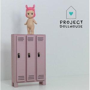 Project Dollhouse Poppenhuis Locker Oud Roze