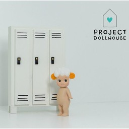 Project Dollhouse Poppenhuis Locker Wit