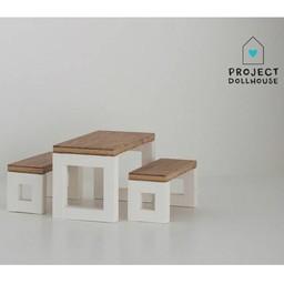 Project Dollhouse Poppenhuis Eettafel Set Modern