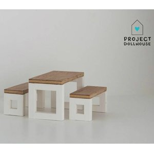 Project Dollhouse Poppenhuis Eettafel Set Modern