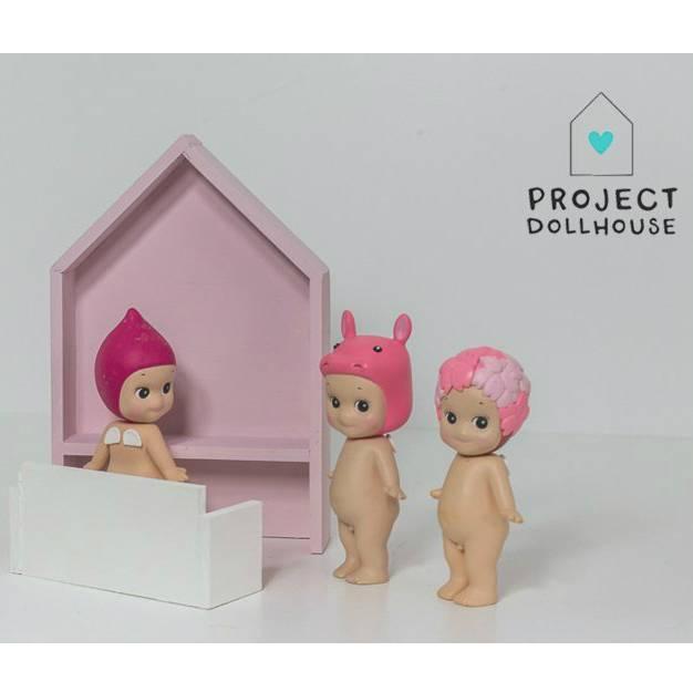 Project Dollhouse Poppenhuis Bureau Huisje Oud Roze