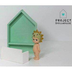 Project Dollhouse Poppenhuis Bureau Huisje Mintgroen