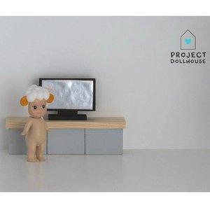 Project Dollhouse Poppenhuis Flatscreen TV