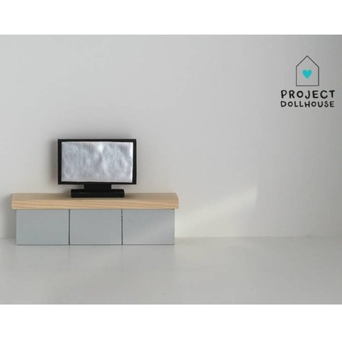 Project Dollhouse Poppenhuis Flatscreen TV