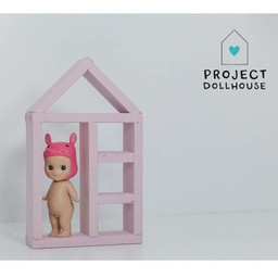 Project Dollhouse Poppenhuis Huisjeskast Oud Roze