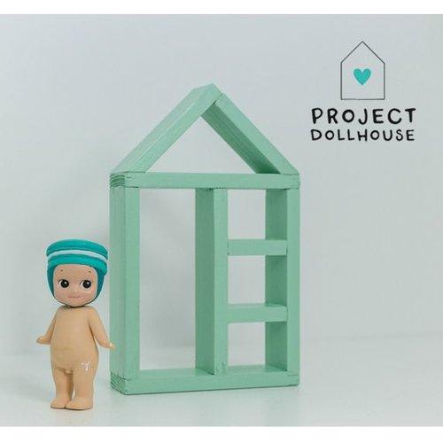 Project Dollhouse Poppenhuis Huisjeskast Mintgroen