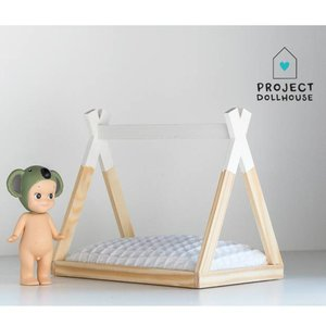 Project Dollhouse Poppenhuis Tipi Bed Open Model Wit