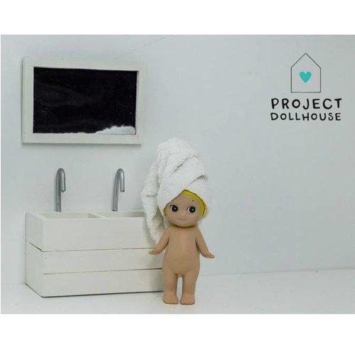 Project Dollhouse Poppenhuis Badkamer Spiegel Wit