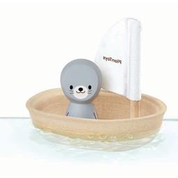 Plan Toys Zeilboot met Zeehond