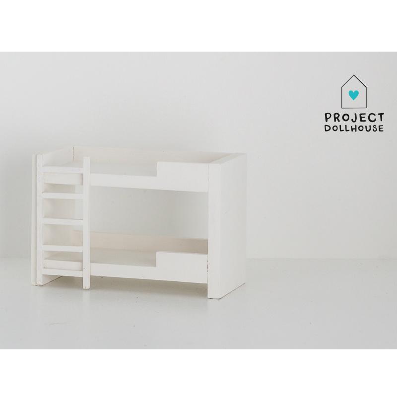 Wit Houten Stapelbed.Project Dollhouse Poppenhuis Stapelbed Wit Bestel Eenvoudig